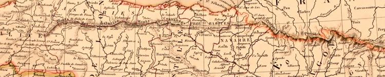 Mapa de Navarra.